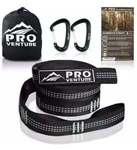 Pro Hammock Tree Straps with CARABINERS – 400LB Rated (1200LB Tested),