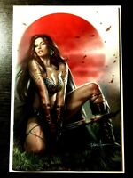 DIE!NAMITE RED SONJA #1 LUCIO PARRILLO EXCLUSIVE VIRGIN COVER COA LTD 200 NM+
