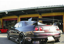 For Nissan Skyline R33 GTR Fit GTR Rear Base Carbon Fiber Bee-R GT Spoiler Wing