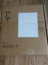 Cisco Meraki MS220-8P-HW PoE PoE+ Gigabit Cloud Managed switch 52553