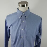 Brooks Brothers Mens No Iron Regent LS Button Up Blue Houndstooth Shirt 16.5 2/3