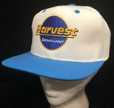 New listing Vtg Harvest Desiccant Hat Strapback K Brand Company Logo Cap Farmer Style