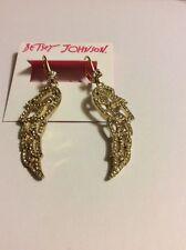 $45 Betsey Johnson  Heaven Sent Filigree Wing  Dangle Earrings A15a