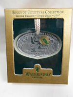 1997 Waterford Crystal Jingle Bells 2nd Edition Songs Of Christmas Collection