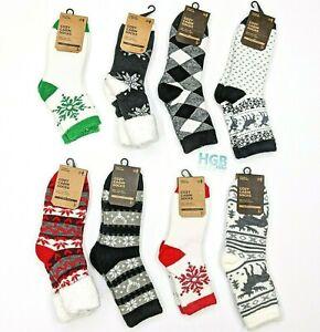 Field & Stream Cozy Cabin Socks Aloe Infused  Assorted 3 pack Bundle 315836-991
