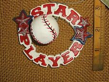 Cannon Falls Star Baseball Player Christmas Tree Ornament
