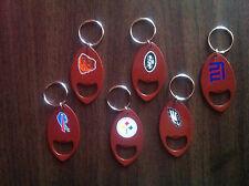 Bud Light NFL Bottle Opener Key Rings - Giants Eagles Steelers Jets Browns Bills
