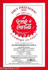 "Ron House ""EL GRANDE DE COCA-COLA"" Diz White / Alan Shearman 1986 Preview Flyer"