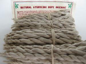 4 bundles of rope joss strings ~ AYURVEDA ~ Natural Ayurvedic Incense
