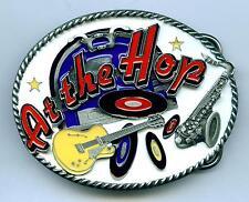 At the Hop Gürtelschnalle Buckle Rock n Roll Rockabilly