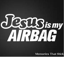Jésus est mon Airbag Voiture Drôle Fenêtre Pare-chocs JDM VW VAG Euro Vinyl Decal Sticker