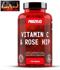 Prozis Vitamin C 1000 mg + Rosehip 120 tabs - Vitamina C + Rosa Canina.