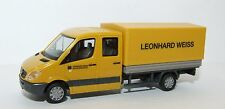 "092326 HERPA Mercedes-Benz sprinter double cabine avec pick-up ""Leonard Blanc"""