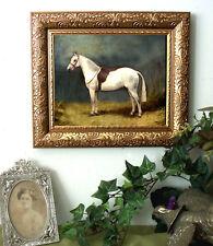 Hunter Horse Welsh Pony Print  Antique Vintage Style Framed 11X13 py