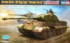 """Hobbyboss 1:35 Sd.Kfz.182 King Tiger """"Porsche Turret"""" w/ Zimmerit Tank Model Kit"""