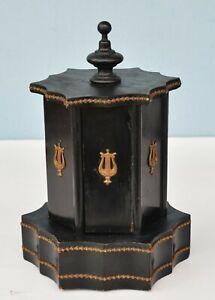 19th century Cigar Carousel Cigarette Humidor Box with Movement Music Box
