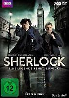 SHERLOCK - STAFFEL 1 2 DVD MIT BENEDICT CUMBERBATCH NEUWARE