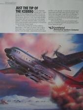 9/1989 PUB LOCKHEED C-130 HERCULES SKI WHEEL McMURDO SOUND ANTARCTIC MOUNTAIN AD