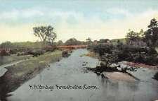 Forestville Connecticut Railroad Bridge Waterfront Antique Postcard K63837