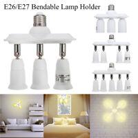 3/4/5 in 1 E27 E26 Light Bulb Socket Splitter Adapter LED Lamp Holder    6 J