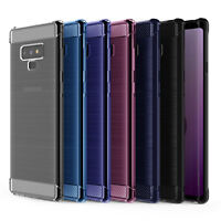 Samsung Galaxy Note 9 Carbon Fibre TPU Silicone Gel Case Protection Cover UK