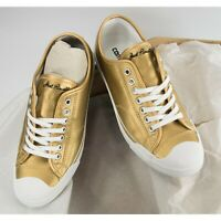 Converse Metallic Gold Leather Jack Purcell Oxford Runner Sneakers Size 8 NIB