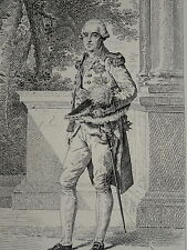 RARE Gravure PORTRAIT Friedrich August SAXE SACHSEN WETTIN NAPOLEON BARON GERARD