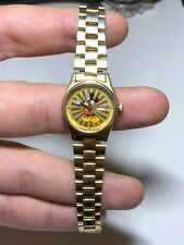 Seiko Gold Plated Micky Mouse Ladies Watch