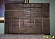 Vintage Wooden Knick Knack Shadowbox Miniature Wall Display Shelf - 16.5 x 24.5