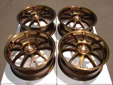 17 5x114.3 5x100 Bronze Wheels Fits Lexus Prius C Cavalier Camry 5 Lug Rims
