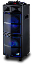 Dolphin SP-909RBT Rechargeable Bluetooth Party Speaker Large & Portable with LED