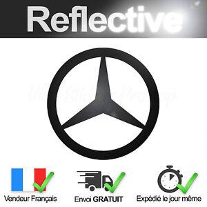 Sticker MERCEDES-BENZ Noir Rétro-Réfléchissant Autocollant Logo Black Reflective