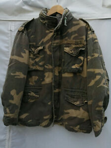 Abercrombie & Fitch XL Camouflage Army M65 Style Field jacket coat Size XL