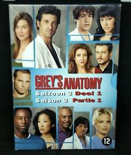 Grey's Anatomy DVD -Seizoen 3 Deel 1 DVD Box set,TV Series,Fast Free P&P