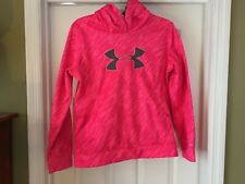 Under Armour Hoodie Sweatshirt Size Youth XL Girls Pink Grey Breast Cancer