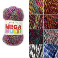 James C Brett Mega Multi Chunky Acrylic Yarn Knitting Crochet Craft 100g Ball