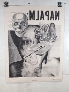 Vintage Poster Protest Anti War Art Napalm 1967 Political Happening Press Weege