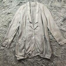 NWOT Myrine And Long Sleeve Tunic Cardigan Jacket Top Sz M Linen Gray Lagenlook