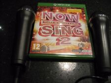 XBOX ONE Now THAT'S WHAT I CALL MUSIC Sing 2 + 2 Microphones Mics KARAOKE / SING