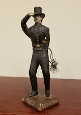 ANTIQUE AMERICAN FOLK ART CHIMNEY SWEEP WOOD CARVING TOP HAT SALUTE GOLD BUTTONS