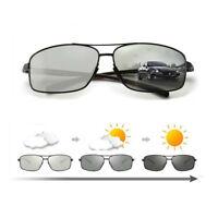 HD Men's Photochromic Sunglasses Polarized Chameleon Transition Lens Sunglasses