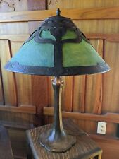 Handel hammered tulip table lamp, mission,arts and crafts