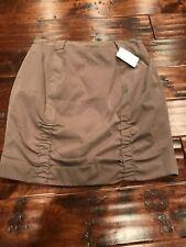 Yoana Baraschi Light Brown Ruched Skirt, Size 6 NWT