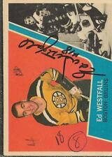Ed Westfall 1963 Topps Autograph #8 Bruins