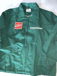 New Men's Riverside Coca Cola Uniform JACKET Green Sz L Made In USA