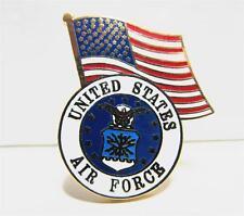 United States Air Force Logo USA Flag Lapel / Hat Pin USAF