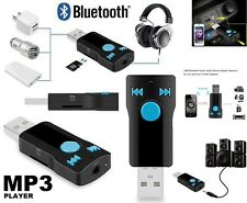 USB 3.0 Bluetooth Audio Receiver Stereo Music Car Adapter &Mic 3.5mm AUX SD SLOT