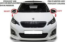 PEUGEOT 108 DOOR Wing Mirror MANUAL CABLE LEFT PRO PAINTED ANY PEUGEOT COLOUR