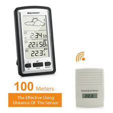 UK Wireless Forecast Weather Station Clock Temperature Humidity & Outdoor Sensor