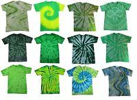 Pick a Green Tie Dye T-Shirt S M L XL 2XL 3XL 4XL 5XL Cotton Colortone-Gildan